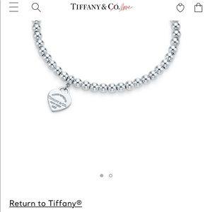 Tiffany beaded bracelet with heart